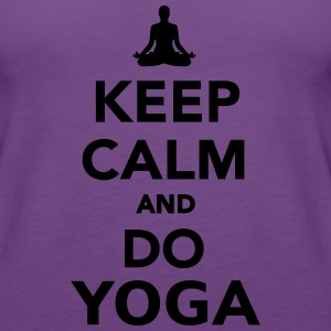 Keep calm and do Yoga Women's T-Shirts - Women's Premium Tank Top
