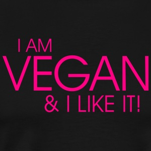 I am vegan and I like it Tanks - Men's Premium T-Shirt