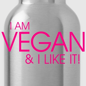 I am vegan and I like it Hoodies - Water Bottle