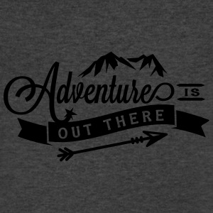 Adventure is Out There Flowy Yoga Bella Tank - Men's V-Neck T-Shirt by Canvas