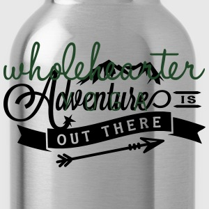 Adventure is Out There Flowy Yoga Bella Tank - Water Bottle