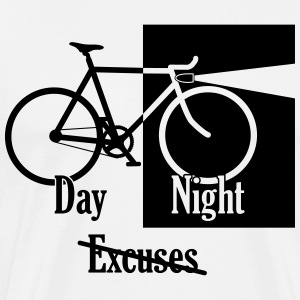 Night or Day - No Excuses - Men's Premium T-Shirt