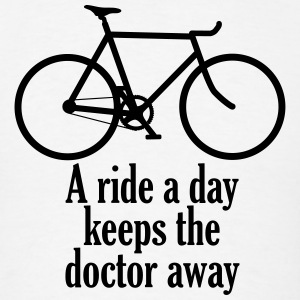 A Ride a Day Keeps the Doctor Away - Men's T-Shirt