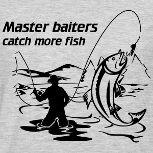 Master baiters catch more fish T-Shirts - Men's Premium Long Sleeve T-Shirt