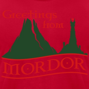 greetings_from_mordor Hoodies - Men's T-Shirt by American Apparel
