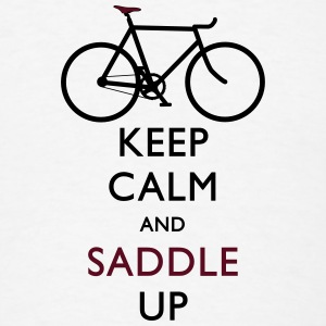 Keep Calm and Saddle Up iphone case - Men's T-Shirt