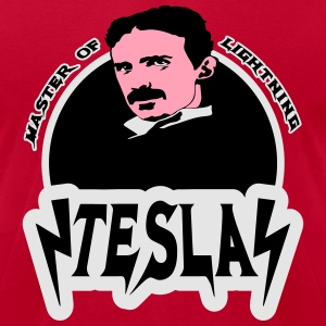 tesla Hoodies - Men's T-Shirt by American Apparel
