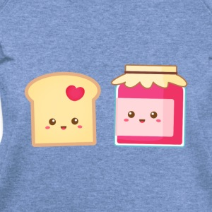 cute strawberry jam and toast, spread the love Women's T-Shirts - Women's Wideneck Sweatshirt