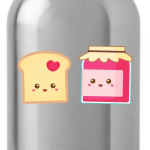 cute strawberry jam and toast, spread the love Women's T-Shirts - Water Bottle