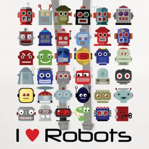I love robots t-shirt - Contrast Hoodie