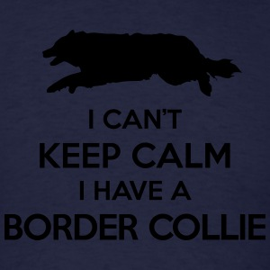 I Can't Keep Calm Border Collie Hoodie - Men's T-Shirt