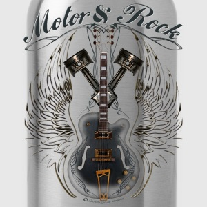 motor and rock v2 pistons guitar wings T-Shirts - Water Bottle