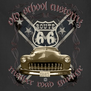 oldschool customs Hot Rod route 66 mercury T-Shirts - Adjustable Apron