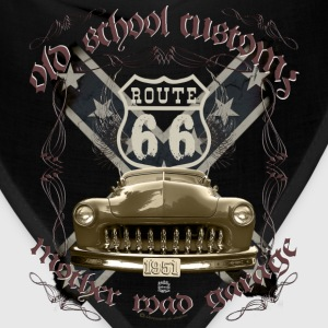 oldschool customs Hot Rod route 66 mercury T-Shirts - Bandana