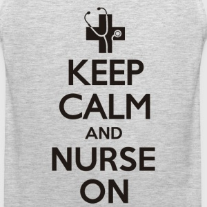 Nurse Shirt - KEEP CALM AND NURSE ON T-Shirts - Men's Premium Tank