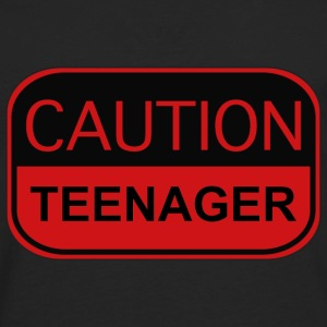 Caution Teenager - Men's Premium Long Sleeve T-Shirt