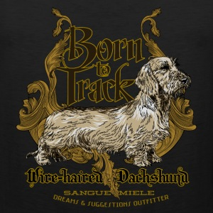dachshund_born_to_track T-Shirts - Men's Premium Tank
