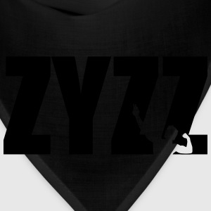 Zyzz Pose Text Vector T-shirt - Bandana