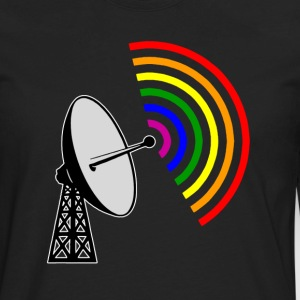 Gaydar Gay Rainbow Radar  - Men's Premium Long Sleeve T-Shirt
