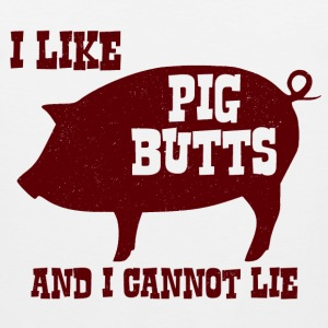 I like Pig Butts and I Cannot Lie BBQ Bacon - Men's Premium Tank