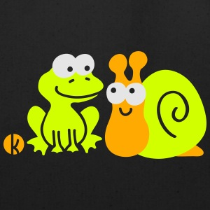 Frog and Snail Buddies Kids' Shirts - Eco-Friendly Cotton Tote