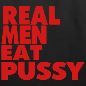 REAL MEN EAT PUSSY - Eco-Friendly Cotton Tote