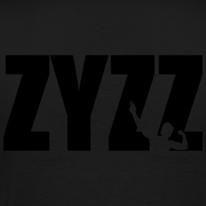 Zyzz text Zip Hoodies & Jackets - Men's Premium T-Shirt