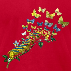 Butterfly Sweatshirts - Men's T-Shirt by American Apparel