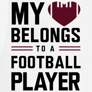 My heart belongs to a football player Women's T-Shirts - Adjustable Apron