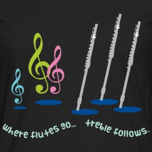 Funny Flute Music Women's T-Shirts - Men's Premium Long Sleeve T-Shirt