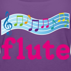Flute Music Staff Women's T-Shirts - Women's Premium Tank Top