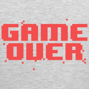 Game Over Pixel Text Long Sleeve Shirts - Men's Premium Tank