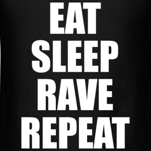 Eat Sleep Rave Repeat EDM Design Long Sleeve Shirts - Men's T-Shirt