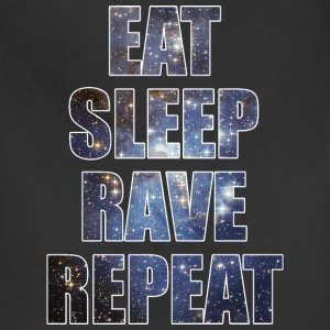 Eat Sleep Rave Repeat EDM Stars Design T-Shirts - Adjustable Apron