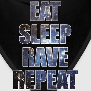Eat Sleep Rave Repeat EDM Stars Design T-Shirts - Bandana