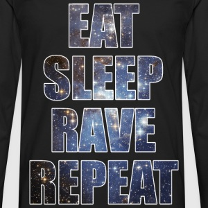 Eat Sleep Rave Repeat EDM Stars Design T-Shirts - Men's Premium Long Sleeve T-Shirt