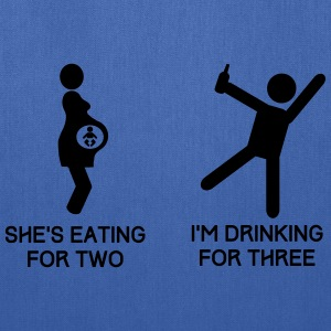 She's Eating for Two. I'm Drinking For Three T-Shirts - Tote Bag