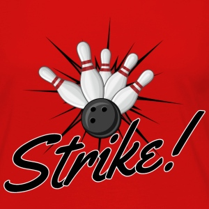 Bowling Strike T-Shirts - Women's Premium Long Sleeve T-Shirt