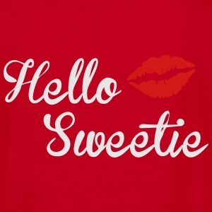 Hello Sweetie Women's Fleece Zip Hoodie - Women's V-Neck T-Shirt