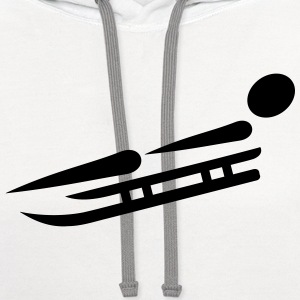 Sled Luge T-Shirts - Contrast Hoodie