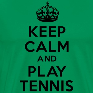 Keep calm and play Tennis Hoodies - Men's Premium T-Shirt