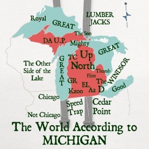 The World According To Michigan Kids' Shirts - Contrast Hoodie
