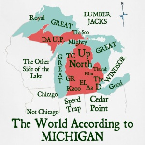 The World According To Michigan Kids' Shirts - Adjustable Apron