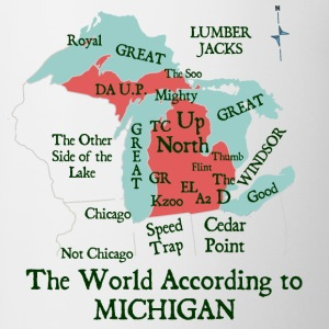 The World According To Michigan Kids' Shirts - Coffee/Tea Mug