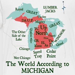 The World According To Michigan Kids' Shirts - Toddler Premium T-Shirt