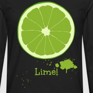 Lime T-Shirts - Men's Premium Long Sleeve T-Shirt