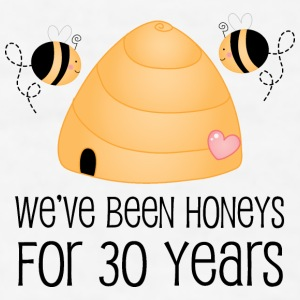 30th Anniversary Honey Bees Bottles & Mugs - Men's T-Shirt