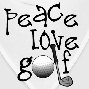 Peace, Love, Golf - Bandana