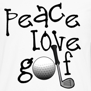 Peace, Love, Golf - Men's Premium Long Sleeve T-Shirt