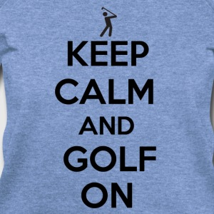 Keep Calm and Golf on - Women's Wideneck Sweatshirt
